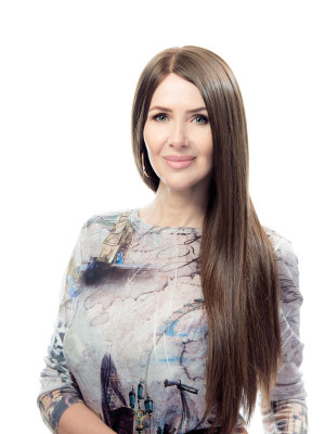 длинный русый парик из славянских волос