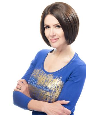 натуральный парик каре без чёлки